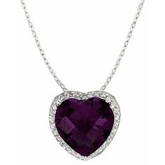 purple jewelry | Purple Jewelry - Natia's Fancy Purple Cubic Zirconia Heart Necklace ...