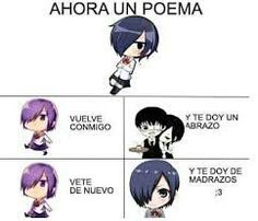 los memes de tokyo ghoul y kaneki :v # Humor # amreading # books # wattpad Me Anime, Kawaii Anime, Manga Anime, Reading Meme, Ex Amor, Funny Poems, Funny Spanish Memes, Otaku Meme, Shinigami