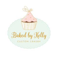 Premade Logo - Cupcake Premade Logo Design - Customized with Your Business Name!