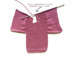 Knitted Baby Cardigan – PINK LADY – Crochet , Knitted Baby Cardigan – PINK LADY – Now we are going to join both pieces. If everything is correct, we must knit with Knitting. Baby Knitting Patterns, Baby Cardigan Knitting Pattern Free, Baby Sweater Patterns, Knitted Baby Cardigan, Knit Baby Sweaters, Knitted Booties, Baby Hats Knitting, Baby Patterns, Baby Booties