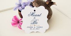 Meant To Be Favor Tags Wedding Favor Bag Tag by DiyCraftyScraps