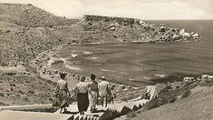 An idyllic summer scene captures happy holidays at Għajn Tuffieħa in the 1950s. Photo: Bay Retro