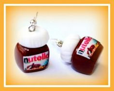 Fimo Clay Nutella earrings