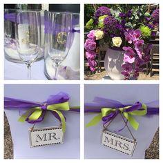Jelle en Chantal met kleuren donker paars en appel groen. Wat een prachtige en zonnige bruiloft!