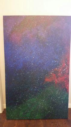 """When Nebula collide""  painting I did this weekend :) #art #galaxyart #galaxy"