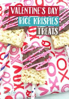 Try these Valentine's day Rice Krispies Treats - a perfect treat for the whole family, to show how much you love each and every one of them.  A simple Valentine's day dessert that will please the entire family and show how much you love them.  #Valentinesday #dessert #snacks #kids #treats