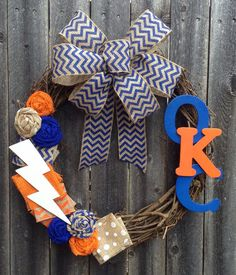 @Alysha Cauffman Cauffman Cauffman Cauffman Cauffman Cauffman Cauffman Cauffman Schmidt Shahan I am putting in my request! haha OKC Oklahoma City Thunder Up Basketball Wreath