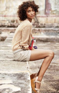 beauty: this is my ideal summer look! What perfect hair, toned figure, and pretty clothes!!! I will have this someday! :)