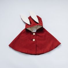 Tortoise & the Hare Red Corduroy Rabbit Cape