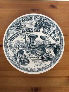 Vintage Wisconsin Dells souvenir plate collectible ironstone : dinnerware seattle - pezcame.com
