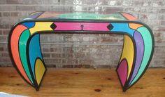 A desk I painted.  So unique, so unusual.  Wish I kept it!