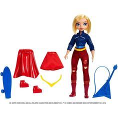 "DC Super Hero filles 64026 supergirl DC Toddler DOLLS 15/"" Supergirl bébé Dol"