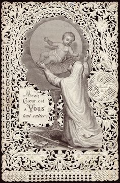 Beautiful vintage Holy Card...