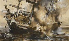 Zdeněk Burian – výpravy do minulosti Illustration, Painting, Pirates, Art, Art Background, Painting Art, Kunst, Paintings, Illustrations