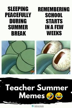 Here's how we're feeling soaking up our last few weeks of summer... Teacher Summer, Teacher Memes, Home Insurance, Summer Time, Activities, Education, Feelings, School, Fun