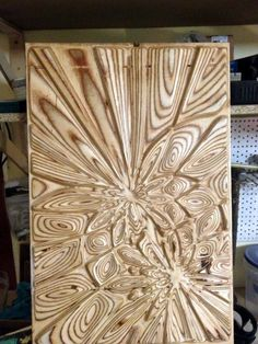 Plywood explosion - Design,  40x1.2x60 cm ©2014 by Andrius Saras -            bonitum, liquid plywood