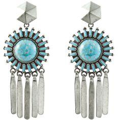 Satvi (11.105 RUB) ❤ liked on Polyvore featuring jewelry, earrings, auskarai, women, dannijo earrings, long beaded earrings, beading jewelry, earring jewelry and long earrings