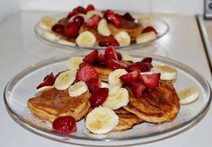 Huvilaelämää ja mökkiruokaa: Peanut butter pancakes