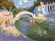 """Rosita's Bridge,"" San Antonio River Walk, San Antonio, Texas, 6 x 8 inches, Oil.  Artist, Guy Jackson.  www.guyjacksonart.com. San Antonio River, River Walk, Impressionist Art, Art Oil, Jackson, Bridge, Guy, Texas, Artist"