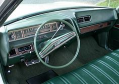 1971 Cadillac Fleetwood Brougham shown with Black padded