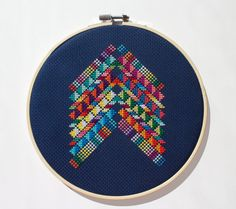 Mexico Abstract - Modern counted cross stitch pattern - Instant download PDF