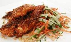 Spice things up a bit with this Florida Peanut Crusted Chicken with Carrot-Cucumber Salad recipe from FreshFromFlorida.com.