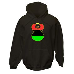 Angel wears the African American Flag or the Flag of the African Diaspora. Wonderful for celebrating Black History Month, Kwanzaa, Juneteeth, or any special day. Share your pride and love of your Black American heritage, culture and ancestry. $75.99 ink.flagnation.com Looks great on this black hoodie. Design by @Auntie Shoe.