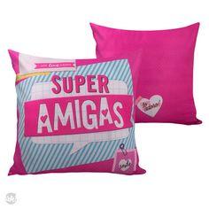 CAPA DE ALMOFADA SOFT - SUPER AMIGAS -