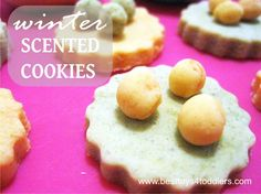 Winter Scented Cookies - homemade no-cooking play dough with orange and cinnamon scents