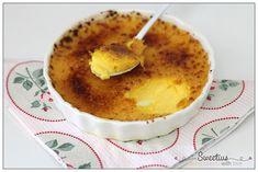 συνταγή για Κρέμ Μπρουλέ Creme Brulee, Sweet Recipes, Pancakes, Rice, Pudding, Cream, Breakfast, Food, Creme Caramel