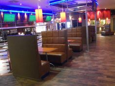 Reupholster Fixed Seating for Cadonas Amusment Park Bar Fittings, Booth Seating, Tables - Glasgow Bespoke Furniture, Furniture Design, Locker Furniture, Booth Seating, Commercial Furniture, Aberdeen, Furniture Collection, Real Leather, Lockers