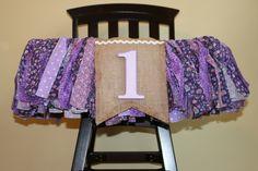 first birthday high chair bunting. photo prop, nursery decor. $36.00. www.pattycakespapers.etsy.com