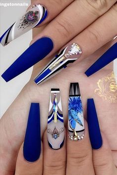 """Hi, here are """"Outstanding Nail Art Styles."""" Nail arts has made it clear to us that our nails can be like our faces. Most ladies do care for their faces well. And then forget their nails. Checkout these nail arts and enjoy your Wednesday. Sexy Nails, Glam Nails, Dope Nails, Bling Nails, Bling Acrylic Nails, Best Acrylic Nails, Stiletto Nails, Acrylic Set, Pointed Nails"""