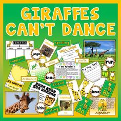 Giraffes Can't Dance by Giles Andreae After reading the book, children are required to correctly sequence six scenes from the story. Eyfs Activities, Animal Activities, Primary Teaching, Teaching Resources, Can Can T, Giraffes Cant Dance, Expressive Art, African Animals, Kids Nutrition