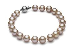HinsonGayle AAA GEM 7.5-8mm Naturally Pink Round Freshwater Cultured Pearl Bracelet (14K White Gold) >>> Check this awesome product by going to the link at the image.
