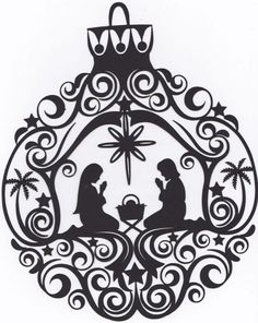 Stunning Nativity Christmas ornament - 9 x 7 even more beautiful in person… Everything on our site is pre cut and ready - Christmas Stencils, Christmas Vinyl, Christmas Nativity, Christmas Projects, Holiday Crafts, Christmas Ornaments, Pre Christmas, Christmas Tree, Christmas Music