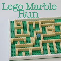 Kids: Lego Marble Run - build this fun marble run with your Lego