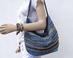 Slouchy monedero de bolso Hobo bolso reciclado del dril de