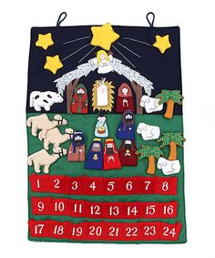 Another great find on #zulily! Nativity Calendar Wall Hanging #zulilyfinds