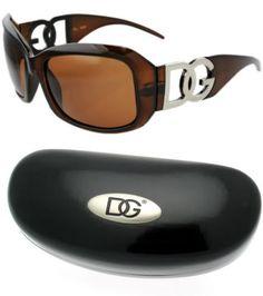 bd773c3c027a Womens Designer DG Eyewear Sunglasses Brown Frame 37163 With Free  Microfiber Bag and Hard Case DG Eyewear.  7.99
