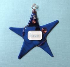LOVE Inspirational Art/ Fused Glass by SusanFayePetProjects, $18.00