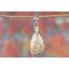 Amazing Handmade Fossil Coral Citrine Gemstone 925 Silver Pendant via Polyvore featuring jewelry, pendants, gem pendants, coral jewellery, pendant jewelry, charm pendant and silver jewelry