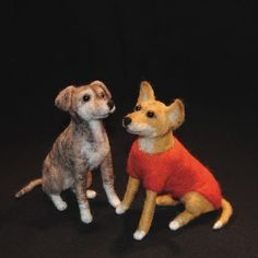 Needle Felted Custom Pet Sculptures size M by willane on Etsy