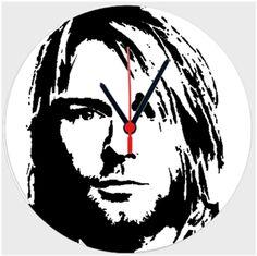 Kurt Cobain Kendin Tasarla - Duvar Saati 27cm