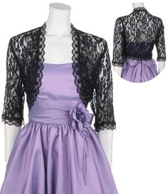 Senior recital by lyrarel on pinterest adrianna papell for Black lace jacket for wedding dress