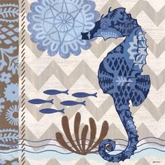 Barrier Reef Seahorse by Jennifer Brinley | Ruth Levison Design