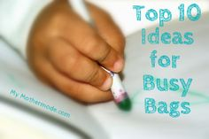 How to Make a Busy Bag and 10 frugal ideas for busy bags