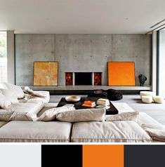 orange color scheme including black and gray color tones