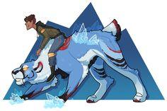 Fantasy Voltron, Lance and Blue Lion.