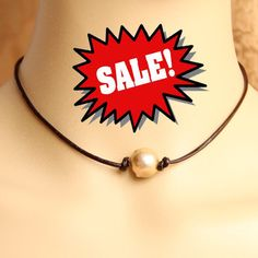 Pearl necklace with leather,large baroque pearl leather necklace,real leather pearl necklace choker,pearl leather choker,leather jewelry by PearlOnly on Etsy https://www.etsy.com/listing/221835830/pearl-necklace-with-leatherlarge-baroque